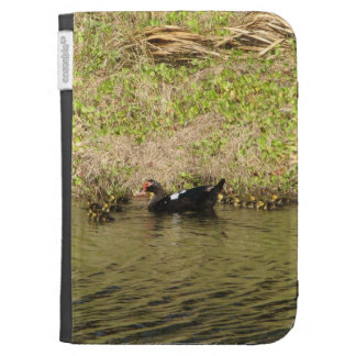 Momma Muscovy and Baby Ducks Caseable Case Kindle Cases