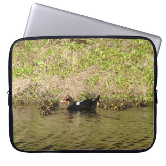 Momma Muscovy and Baby Ducks Laptop Sleeve