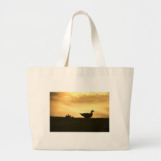Momma Muscovy Duck and Baby Ducklings at Sunrise Large Tote Bag