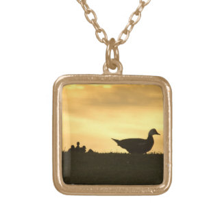 Momma Muscovy Duck and Baby Ducklings at Sunrise Custom Jewelry