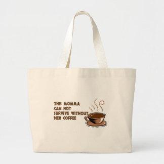 momma needs coffee jumbo tote bag