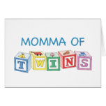 Momma of Twins Blocks Cards