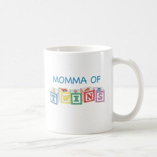 Momma of Twins Blocks Coffee Mug