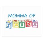 Momma of Twins Blocks Postcard