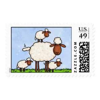 momma sheep stamp