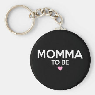 Momma To Be Print Keychain