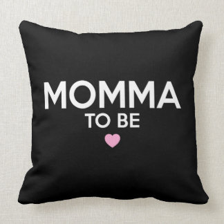 Momma To Be Print Throw Pillow