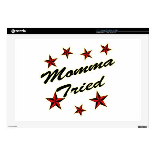 "Momma Tried w/ Stars 17"" Laptop Decal"