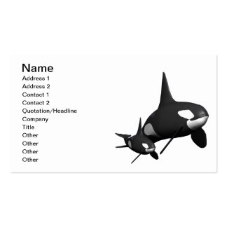 Momma Whale Double-Sided Standard Business Cards (Pack Of 100)