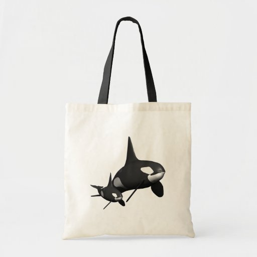 Momma Whale Tote Bags