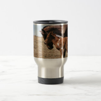 Momma with Foal 15 Oz Stainless Steel Travel Mug