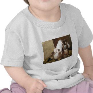 Momma y cabra del bebé camisetas