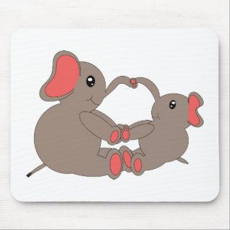 Momma y elefante Mousepad del bebé Alfombrilla De Raton
