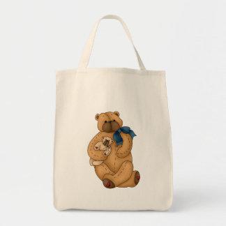Momma y osos del bebé bolsa tela para la compra