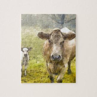 Momma y vaca del bebé puzzle