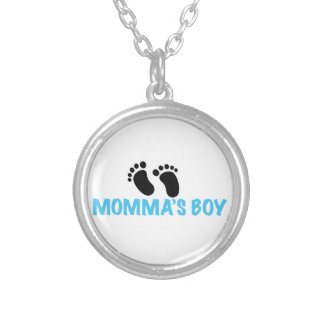 Momma's Boy Silver Plated Necklace