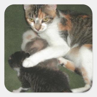 Momma's Fuzzies! Square Sticker