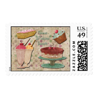Mommas Old Fashioned Desserts Postage Stamp