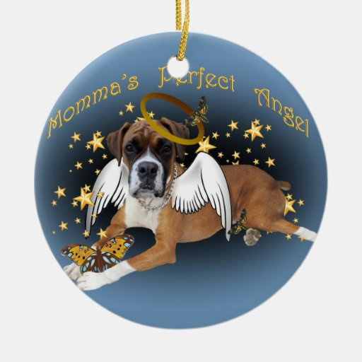 Momma's Perfect Angel Boxer Ornament