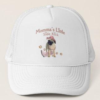 Momma's Side Kick Pug Trucker Hat