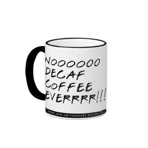 Mommie Decaf Ringer Coffee Mug