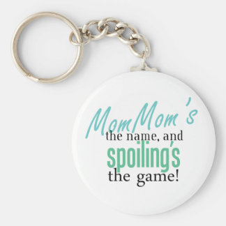 MomMom's the Name, and Spoiling's the Ga Basic Round Button Keychain