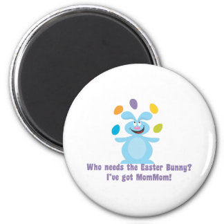 MomMom is My Easter Bunny 2 Inch Round Magnet