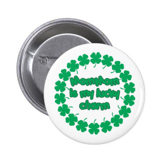 MomMom is My Lucky Charm 2 Inch Round Button