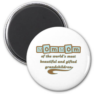 MomMom of Gifted Grandchildren 2 Inch Round Magnet