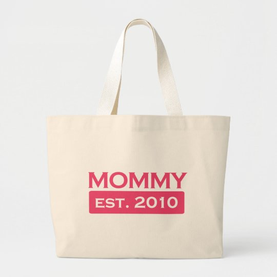 Mommy 2010/2011 large tote bag