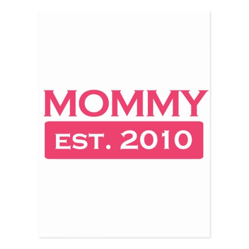 Mommy 2010/2011 postcard