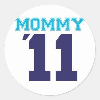 mommy  2011 blue classic round sticker