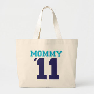 mommy  2011 blue large tote bag