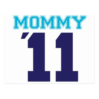 mommy  2011 blue postcard