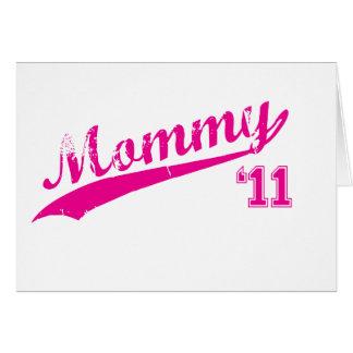 mommy 2011 card