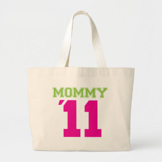 Mommy 2011 pink large tote bag