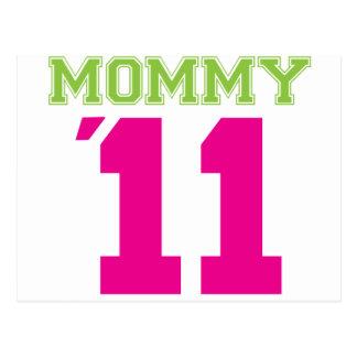Mommy 2011 pink postcard