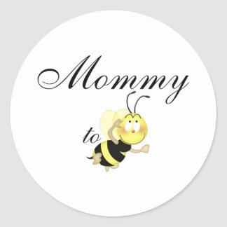 Mommy 2 be round stickers
