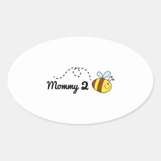 Mommy 2 Bee Oval Sticker