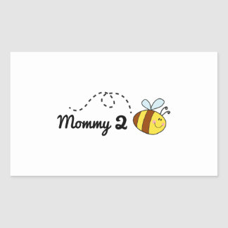 Mommy 2 Bee Rectangular Sticker