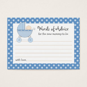 Mom business cards templates zazzle mommy advice card baby shower carriage pink colourmoves