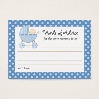 Mommy Advice Card Baby Shower Carriage | Pink