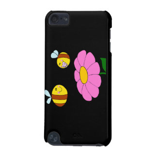 mommy and baby bee flying over flower cartoon iPod touch 5G cover