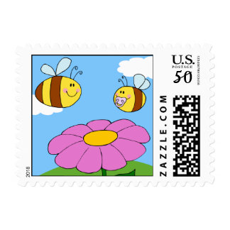 Mommy and Baby Bee Postage