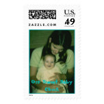 mommy and baby chuck, Our Sweet Baby Chuck Postage Stamps