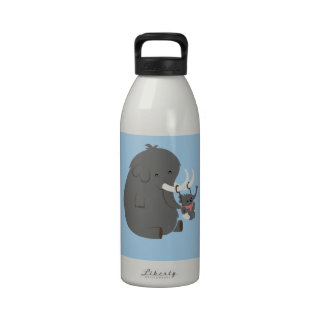 Mommy and Baby Elephant -baby- Reusable Water Bottles