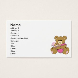 Mommy and Baby Girl Bear Business Card