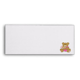 Mommy and Baby Girl Bear Envelope