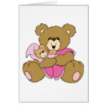 Mommy and Baby Girl Bear Greeting Card