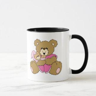 Mommy and Baby Girl Bear Mug